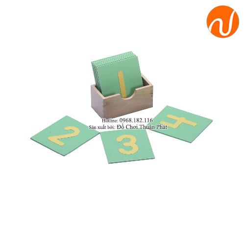 Giáo cụ montessori bảng chữ số cát- in thường GC36-133
