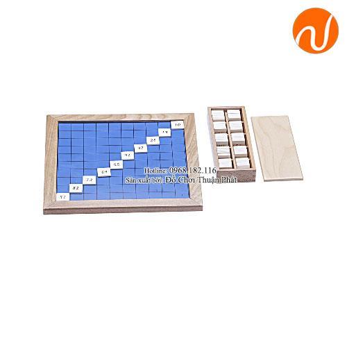 Giáo cụ montessori hộp số cho bảng số từ 1-100 GC36-150