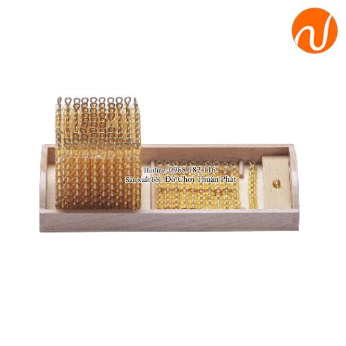Bộ giáo cụ montessori giới thiệu hệ thập phân - Hạt cườm vàng GC36-153