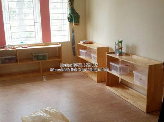 Cung cấp sản phẩm tủ kệ Montessori đồ chơi vận động tại Hà Nội
