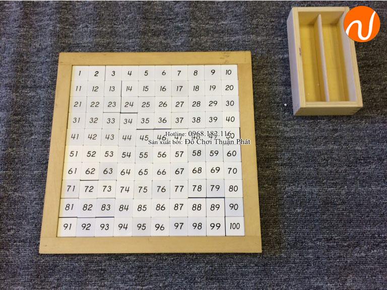 hướng dẫn sử dụng bảng 100 montessori cho trẻ