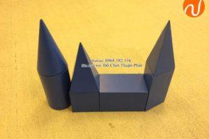 Hướng dẫn sử dụng giáo cụ montessori các khối hình học màu xanh