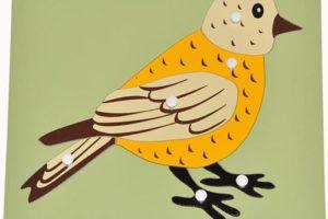 Hướng dẫn giáo cụ Montessori ghép hình con chim cho bé