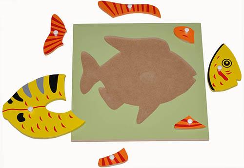 Hướng dẫn sử dụng giáo cụ Montessori bộ ghé hình cá-2