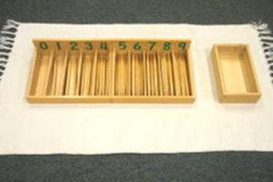Hướng dẫn sử dụng giáo cụ Montessori hộp 45 que tính màu tự nhiên