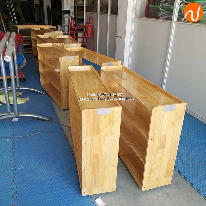 Sản xuất kệ Montessori 4 tầng cho trường mầm non tại Hà Nội-4