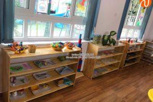 Sản xuất kệ Montessori 4 tầng cho trường mầm non tại Hà Nội