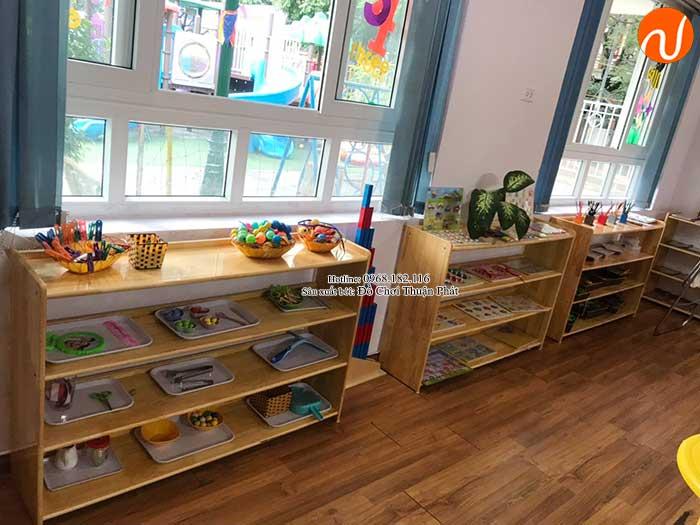 Sản xuất kệ Montessori 4 tầng cho trường mầm non tại Hà Nội-5