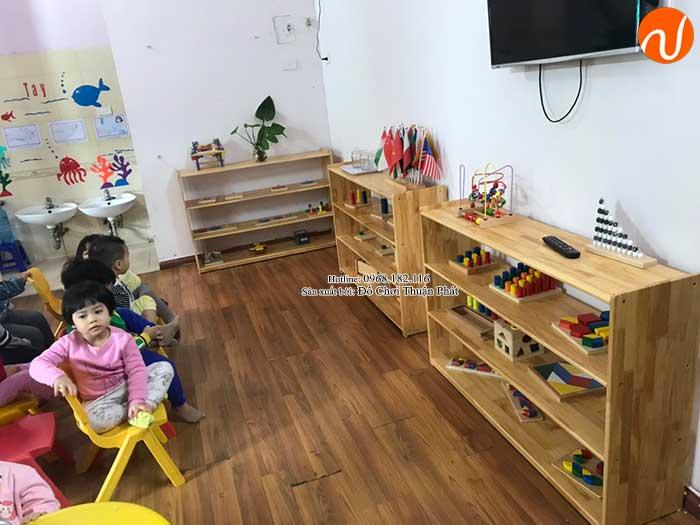 Sản xuất kệ Montessori 4 tầng cho trường mầm non tại Hà Nội-6